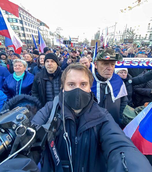 Martin Bertkovský na Václaváku 31.01.2021