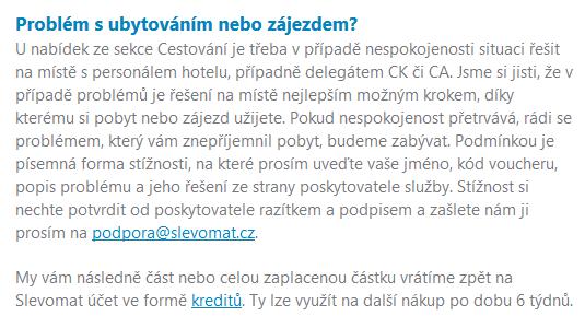 garance spokojenosti Slevomat.cz